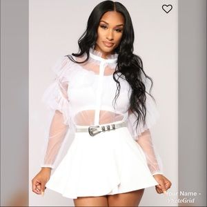 """""""It's Me and You Baby"""" Mesh Top"""